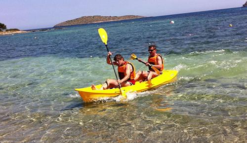 Ruta de las tres playas en kayak