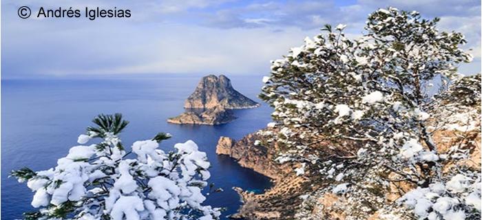 Ibiza nevada y es Vedrà: la verdadera historia de una foto de éxito